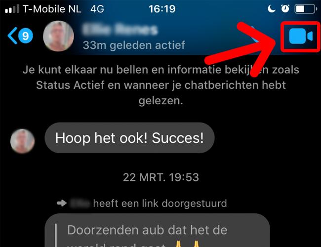 Videobellen met Facebook Messenger